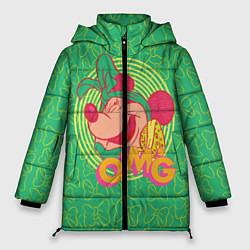 Женская зимняя 3D-куртка с капюшоном с принтом Minnie Mouse OMG, цвет: 3D-черный, артикул: 10250079106071 — фото 1