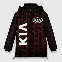 Женская зимняя 3D-куртка с капюшоном с принтом KIA, цвет: 3D-черный, артикул: 10253983306071 — фото 1