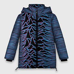Женская зимняя 3D-куртка с капюшоном с принтом JOY DIVISION, цвет: 3D-черный, артикул: 10265922706071 — фото 1