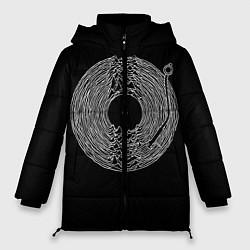 Женская зимняя 3D-куртка с капюшоном с принтом JOY DIVISION, цвет: 3D-черный, артикул: 10265927906071 — фото 1