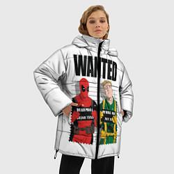 Женская зимняя 3D-куртка с капюшоном с принтом Deadpool, цвет: 3D-черный, артикул: 10275023506071 — фото 2