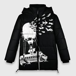 Женская зимняя 3D-куртка с капюшоном с принтом FORTNITE, цвет: 3D-черный, артикул: 10275553506071 — фото 1