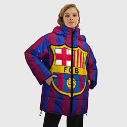 Женская зимняя 3D-куртка с капюшоном с принтом Barcelona, цвет: 3D-черный, артикул: 10063820306071 — фото 2
