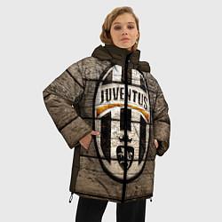 Женская зимняя 3D-куртка с капюшоном с принтом Juventus, цвет: 3D-черный, артикул: 10063903706071 — фото 2