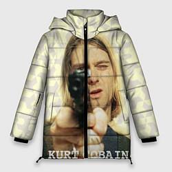Куртка зимняя женская Кобейн с пистолетом - фото 1