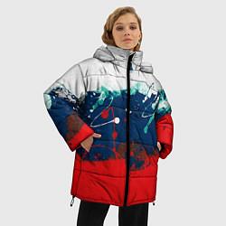Куртка зимняя женская Триколор РФ цвета 3D-черный — фото 2