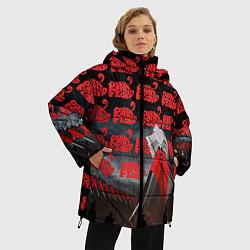 Куртка зимняя женская Pink Floyd Pattern цвета 3D-черный — фото 2