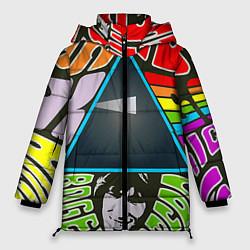 Куртка зимняя женская Pink Floyd цвета 3D-черный — фото 1