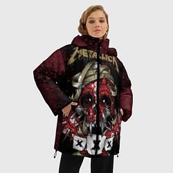 Женская зимняя 3D-куртка с капюшоном с принтом Metallica: XXX, цвет: 3D-черный, артикул: 10064308106071 — фото 2