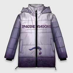 Женская зимняя 3D-куртка с капюшоном с принтом Imagine Dragons: Silence, цвет: 3D-черный, артикул: 10064383706071 — фото 1