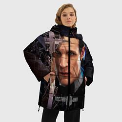 Женская зимняя 3D-куртка с капюшоном с принтом Доктор кто, цвет: 3D-черный, артикул: 10065035006071 — фото 2