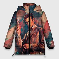 Женская зимняя 3D-куртка с капюшоном с принтом Доктор кто, цвет: 3D-черный, артикул: 10065374306071 — фото 1
