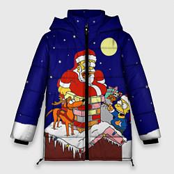 Куртка зимняя женская Новый год у Симпоснов - фото 1