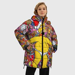 Куртка зимняя женская Обжора Гомер - фото 2