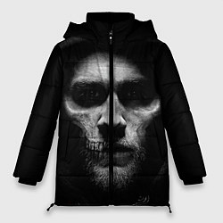 Женская зимняя 3D-куртка с капюшоном с принтом Sons Of Anarchy, цвет: 3D-черный, артикул: 10078856006071 — фото 1