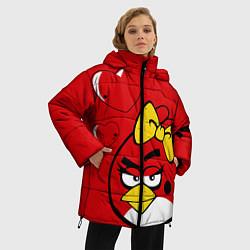 Куртка зимняя женская Птичка цвета 3D-черный — фото 2