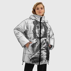 Куртка зимняя женская Молодой Боб Марли цвета 3D-черный — фото 2