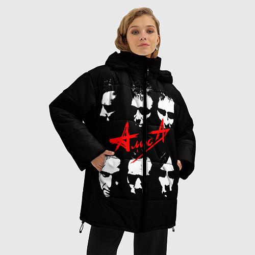 Женская зимняя куртка Группа АлисА / 3D-Черный – фото 3