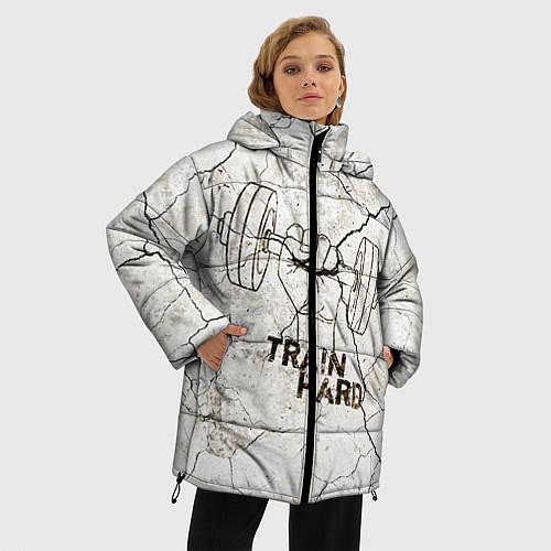 Женская зимняя куртка Train hard / 3D-Черный – фото 3