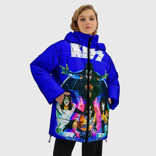 Женская зимняя куртка Kiss Show / 3D-Черный – фото 3