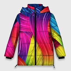 Куртка зимняя женская Абстракция цвета - фото 1