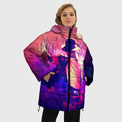 Куртка зимняя женская Michael Jackson: Moon цвета 3D-черный — фото 2