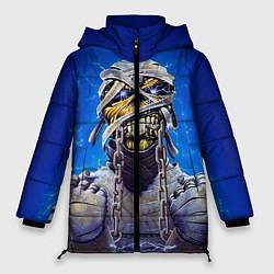 Женская зимняя 3D-куртка с капюшоном с принтом Iron Maiden: Mummy, цвет: 3D-черный, артикул: 10089881606071 — фото 1