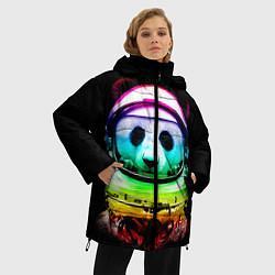 Куртка зимняя женская Панда космонавт цвета 3D-черный — фото 2