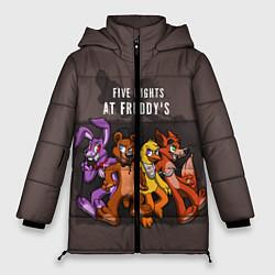 Женская зимняя 3D-куртка с капюшоном с принтом Five Nights At Freddy's, цвет: 3D-черный, артикул: 10093561406071 — фото 1
