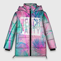 Женская зимняя 3D-куртка с капюшоном с принтом Beach Party, цвет: 3D-черный, артикул: 10096482806071 — фото 1