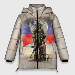 Куртка зимняя женская Солдат и дитя цвета 3D-черный — фото 1