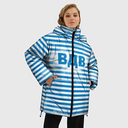 Женская зимняя 3D-куртка с капюшоном с принтом ВДВ, цвет: 3D-черный, артикул: 10098332606071 — фото 2