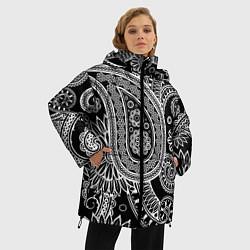 Куртка зимняя женская Paisley цвета 3D-черный — фото 2