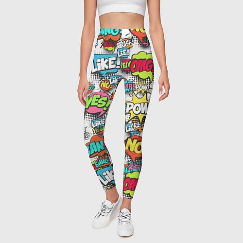 Женские леггинсы Pop art Fashion / 3D-принт – фото 3