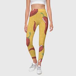 Леггинсы женские Перчики цвета 3D-принт — фото 2