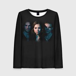 Лонгслив женский Vampire Trio цвета 3D — фото 1