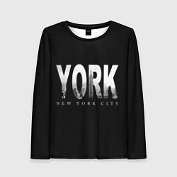 Лонгслив женский New York City цвета 3D — фото 1