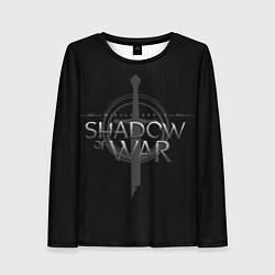 Лонгслив женский Shadow of War цвета 3D-принт — фото 1