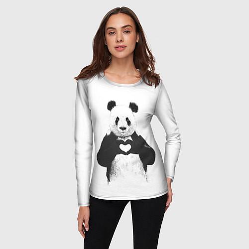 Женский лонгслив Panda Love / 3D – фото 3