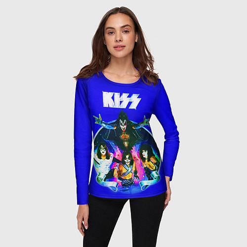 Женский лонгслив Kiss Show / 3D – фото 3