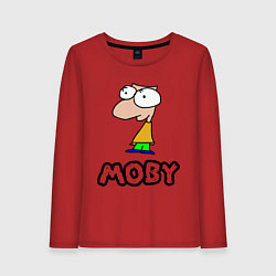 Лонгслив хлопковый женский Moby цвета красный — фото 1