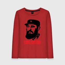 Лонгслив хлопковый женский Fidel Castro цвета красный — фото 1
