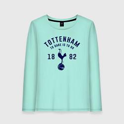 Лонгслив хлопковый женский FC Tottenham 1882 цвета мятный — фото 1