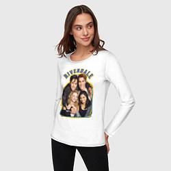 Лонгслив хлопковый женский Riverdale heroes цвета белый — фото 2