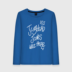 Лонгслив хлопковый женский Jughead цвета синий — фото 1