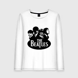 Лонгслив хлопковый женский The Beatles Band цвета белый — фото 1