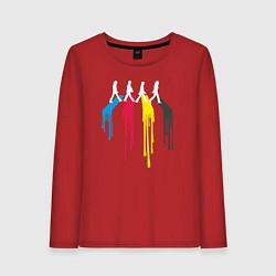 Лонгслив хлопковый женский Abbey Road Colors цвета красный — фото 1