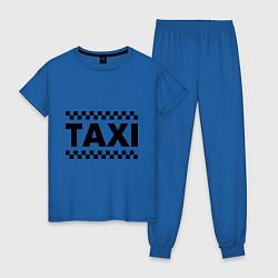 Пижама хлопковая женская Taxi цвета синий — фото 1