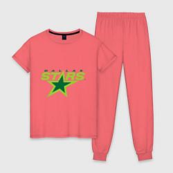 Пижама хлопковая женская Dallas Stars цвета коралловый — фото 1