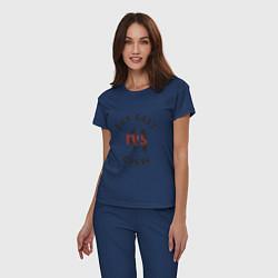 Пижама хлопковая женская Far East 41 Crew цвета тёмно-синий — фото 2